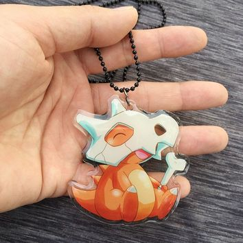 Go cute Charmander in mask thicken acrylic necklace keychain id badge neck strap cosplay accessories GiftKawaii Pokemon go  AT_89_9