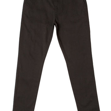 Tapered Stretch Twill Chino Pant Black