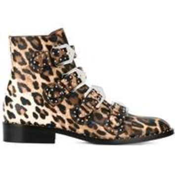 Givenchy Leopard Print Boots - Farfetch