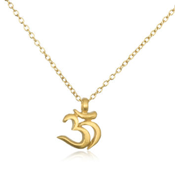 Chakra Om Necklace in Gold