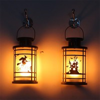 ISHOWTIENDA Hanging Lantern Flame Lamp Decor Light Vintage Party Castle Halloween Pumpkin  dropship 2018