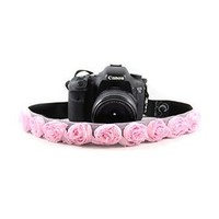 Sweet Pink Organza 1.5In Camera Strap - Capturing Couture - CASLR15-RSSP