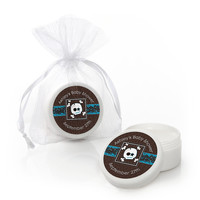Skullitude - Baby Boy Skull - Personalized Baby Shower Lip Balm Favors