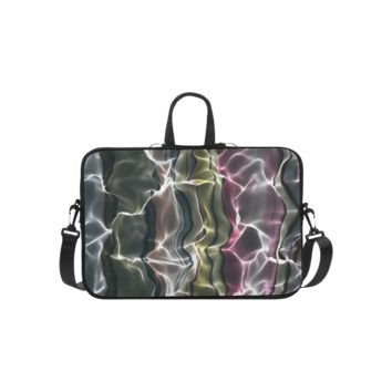 Personalized Laptop Shoulder Bag Abstract Wavy Mesh Macbook Pro 15 Inch