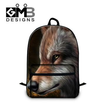 Cool Backpack school Designer Wolf Pattern Laptop backpacks for Boys,Mens Cool Backpacking Bag,Children's stylish Bookbags,Girls Mochila Book Bags AT_52_3