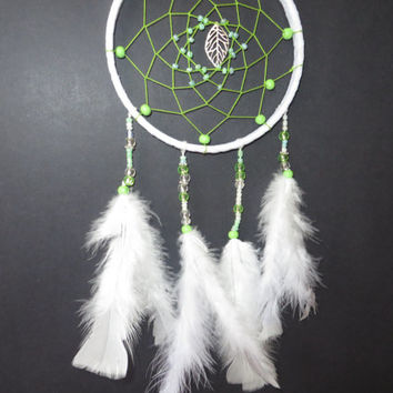 White Dreamcatcher. FREE SHIPPING. Large Dream Catcher, Bohemian Decor. Wedding Dreamcatcher.  Wall Hanging Dreamcather