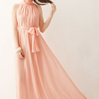 Perfect Fairy Hang-Neck Sexy Maxi Dress
