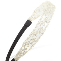 Metallic Floral Embroidered Headband | Forever 21 - 1000054325