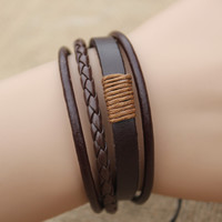 New Leather Bracelet Men Jewelry Punk Vintage Bracelets Beads Charm Fashion Bracelet For Men Pulseira MB1713