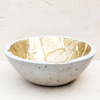 Handcrafted Golden Concrete Bowl