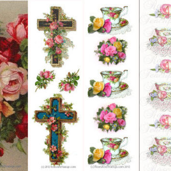 Set of 50 Personalized Victorian Bookmarks