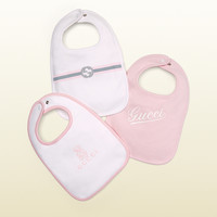 Gucci - baby three-piece bib gift set 3604313K1079072