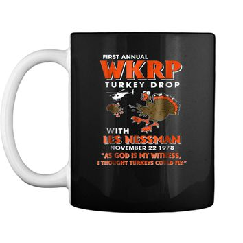 First Annual WKRP_Turkey_Drop As God is my witness  Mug