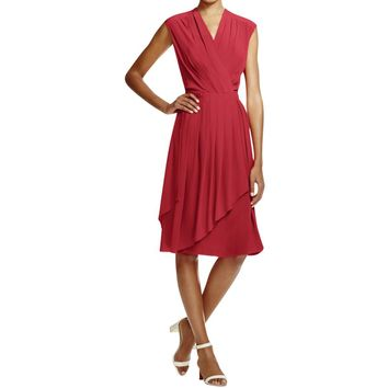 Tory Burch Womens Silk Wrap Casual Dress