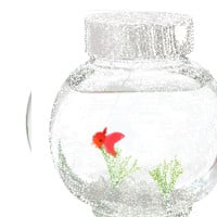 Electronic Goldfish in a Bowl - OLD SKU