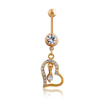 Stylish Accessory Diamonds Hot Sale Belly Ring [6768794439]