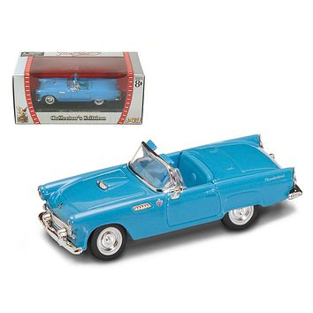 1955 Ford Thunderbird Blue 1:43 Diecast Model Car by Road Signature