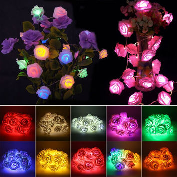 10 Colors Rose String Light LED Festival Fairy Lights For Christmas Xmas Party Wedding Decoration