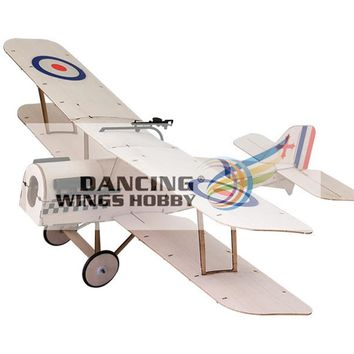 RC Plane Laser Cut Balsa Wood Airplane biplane Sopwith-SE5A Frame without Cover Wingspan 378mm Balsa Wood Model Building Kit