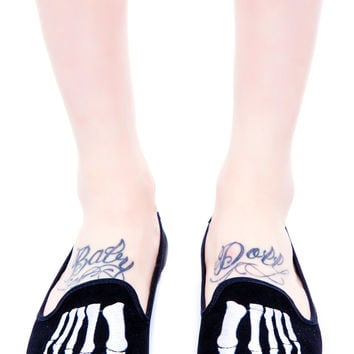 Y.R.U. Skeleton Toe Lavish Flat Black
