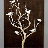 Birds in Trees - Medium: Chris Stiles: Ceramic & Wood Wall Art - Artful Home