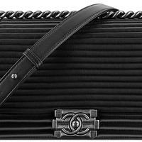 CHANEL Le Boy Horizontal Quilted Flap Bag