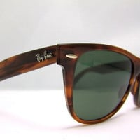 RAY BAN Wayfarer  2 Tortoiseshell Vintage Bausch and Lomb USA with case