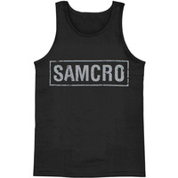 Sons Of Anarchy Men's  SOA Mens Tank Black Rockabilia