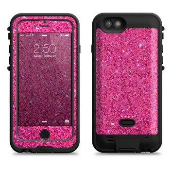 The Pink Sparkly Glitter Ultra Metallic  iPhone 6/6s Plus LifeProof Fre POWER Case Skin Kit