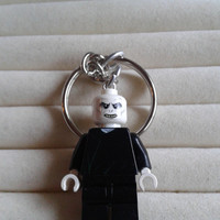 Voldemort  keychain keyring  made with LEGO® Harry Potter minifigure