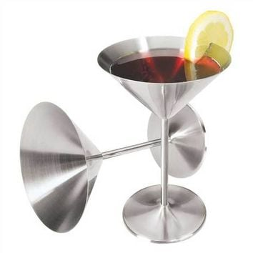 2 PC Martini Goblet Set