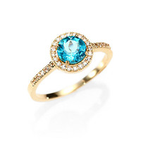 KALAN by Suzanne Kalan - Apatite, White Sapphire and 14K Yellow Gold Ring