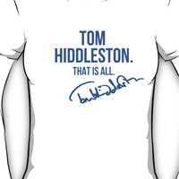 Tom Hiddleston Appreciation WITH AUTOGRAPH Women's T-Shirt