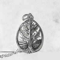 Tree of Life Necklace,  Sterling Silver Necklace, Tree of Life Pendant, Unique Necklace, Tree Charm, Sterling Silver Jewelry, Artida