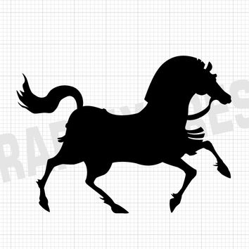 Spartan Horse Decal - Armored Horse Sticker - Horse Decals - Animal Decals