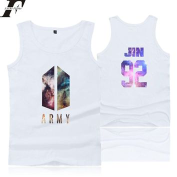 LUCKYFRIDAYF BTS ARMY Kpop LOVE YOURSELF Tank Tops Women men Summer Sleeveless Workout bodybuilding Tank Top camiseta Print Vest
