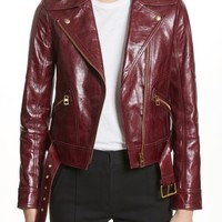 Tory Burch Bianca Leather Moto Jacket | Nordstrom