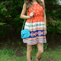 South Of The Border Dress, red