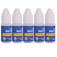 LANDVO 5 Pcs Professional 3g/Bottle Acrylic Nail Art Glue For French False Tips Rhinestones Manicure Tools