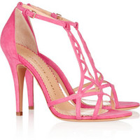 Charlotte Olympia Marianne cutout suede sandals – 60% at THE OUTNET.COM