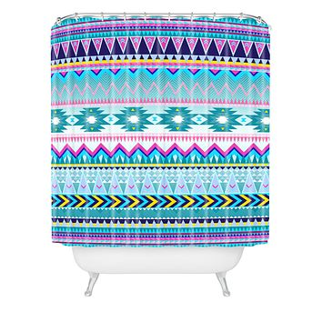 Iveta Abolina Tribal Teal Shower Curtain