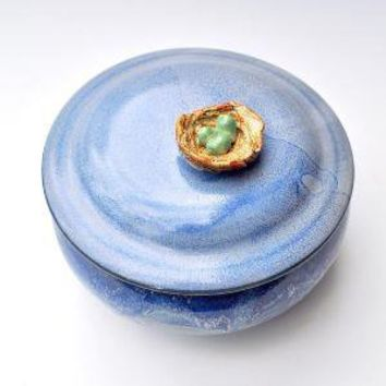Bird's Nest keepsake box handmade stoneware by OneClayBead