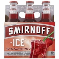 Smirnoff Ice Strawberry Cocktail, 6 pack, 11.2 fl oz - Walmart.com