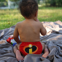 Incredibles All In One (AIO) Cloth Diaper - One-Size or Newborn, S, M, L