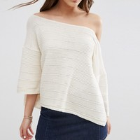 ASOS Boxy Jumper With Off Shoulder Neck