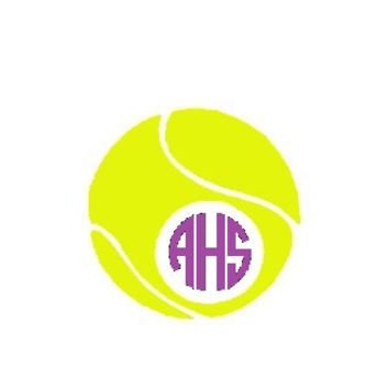 Tennis Monogram Decal - Monogrammed Tennis Sticker