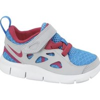 Nike Free Run 2.0 2c-10c Infant/Toddler Girls' Running Shoes - Vivid Blue