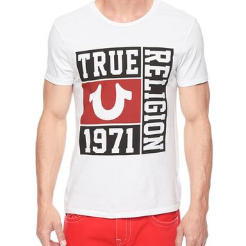 True Religion Hand Picked Varsity Mens T-shirt - White