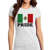 Mexican Pride - Mexican Flag Juniors T-Shirt by TooLoud