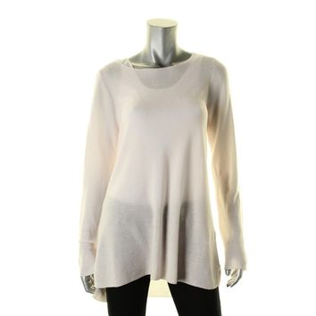Eileen Fisher Womens Tencel Knit Tunic Top